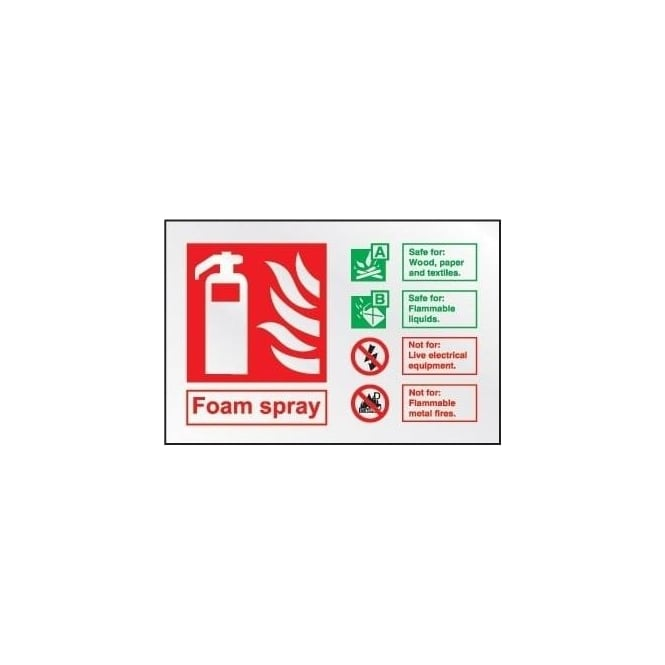 Prestige Fire Extinguisher Identification Sign: Foam Spray