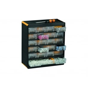 Professional Plastic Visible Multi Drawer Storage Cabinets Pack of 2