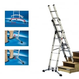 Profistep Professional 3 Way Combination Ladders EN131