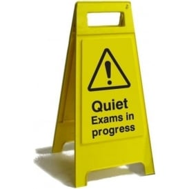 Quiet Exams in Progress Free Standing Floor Sign