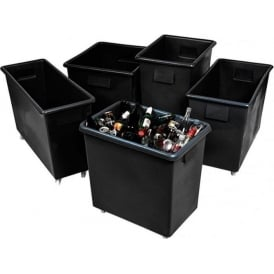 Recycled Plastic Black Bottle Skips & Bins