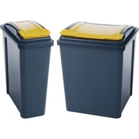 Recycling Bins with coloured lid Cap: 25lt or 50lt