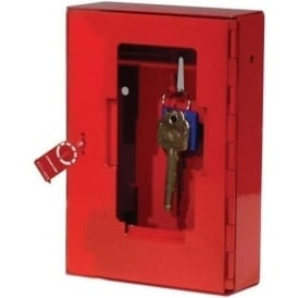 Red Glass Fronted Emergency Key Box