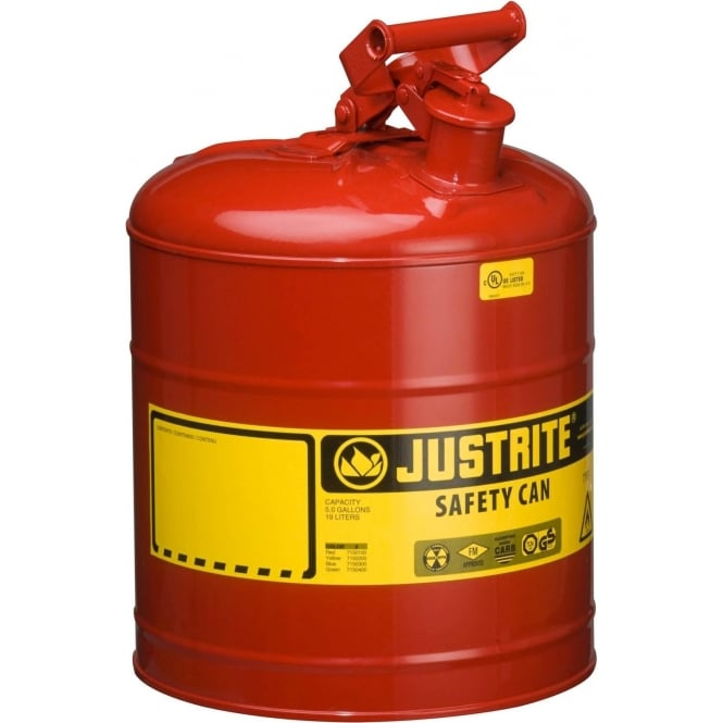 Red Steel Safety Cans for Flammables - Type I