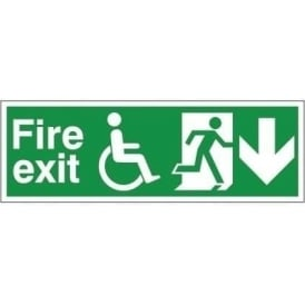 Refuge Fire Exit - Arrow Down Signs