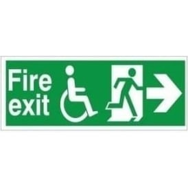 Refuge Fire Exit - Arrow Right Signs