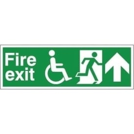 Refuge Fire Exit - Arrow Up Signs