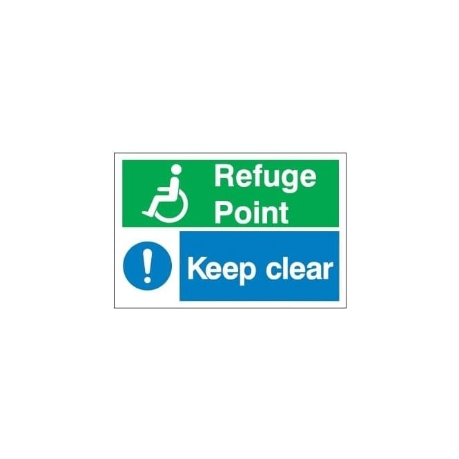 Refuge Point / Keep clear Signs