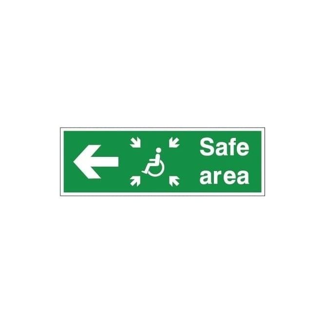 Refuge Safe Area - Arrow Left Signs