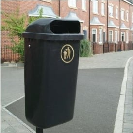 Regent Hooded Top Wall/Post Mounted Bin Cap: 50lt