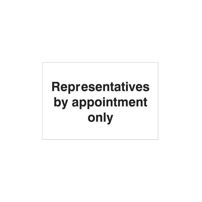 Representatives by appointment only