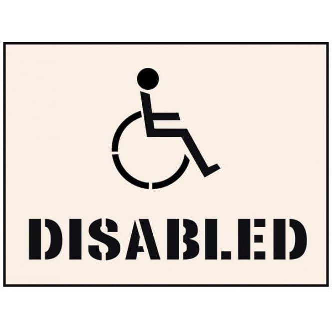 Reusable Industrial Stencil: Disabled