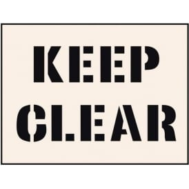 Reusable Industrial Stencil: Keep Clear
