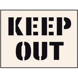 Reusable Industrial Stencil: Keep Out