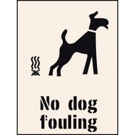 Reusable Industrial Stencil: No Dog Fouling