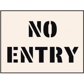 Reusable Industrial Stencil: No Entry