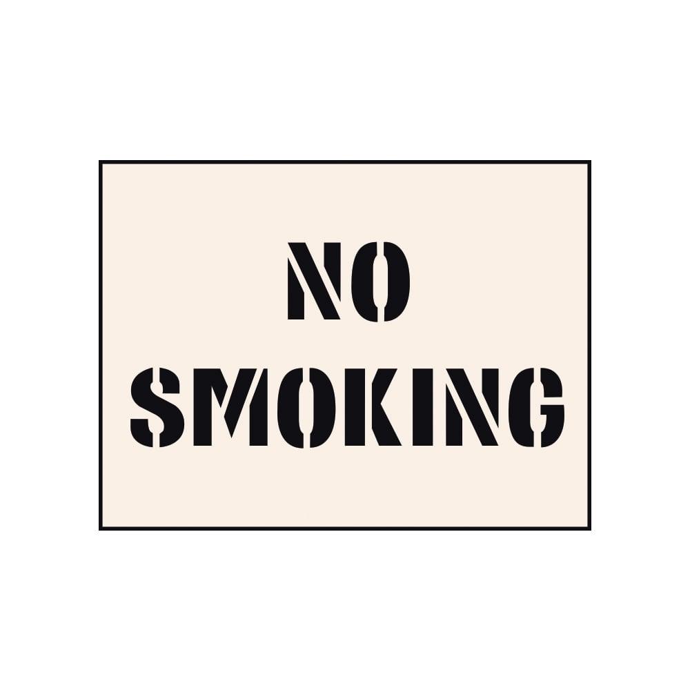Reusable Stencils of a No Smoking Sign No Smoking Stencil