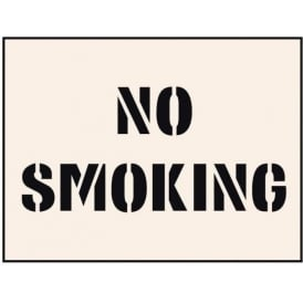 Reusable Industrial Stencil: No Smoking
