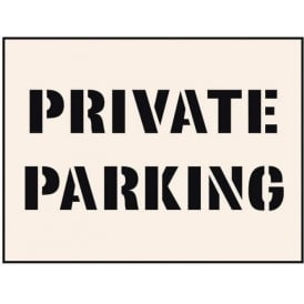 Reusable Industrial Stencil: Private Parking