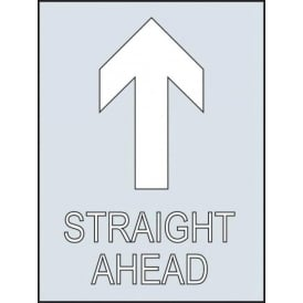 Reusable Industrial Stencil: Straight Ahead Arrow