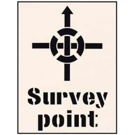 Reusable Industrial Stencil: Survey Point