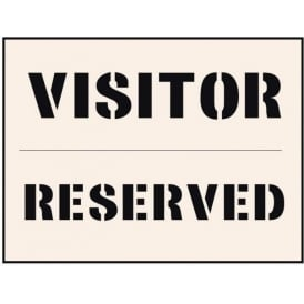 Reusable Industrial Stencil: Visitor Reserved Stencil
