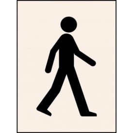 Reusable Industrial Stencil: Walking Man