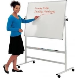 Revolving Mobile Dry-Wipe White Board