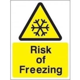 Risk of freezing sign