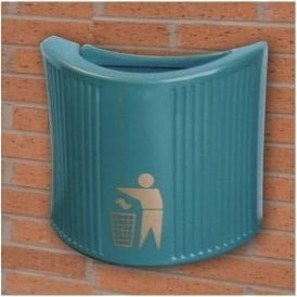 River Avon Open Top Wall Mounted Litter Bin Cap: 24lt
