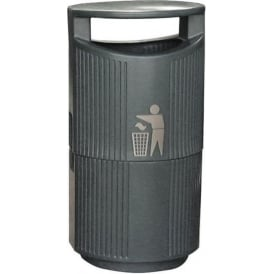 River Severn Hooded Top Outdoor Litter Bin Cap: 94lt