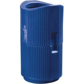 River Thames Open Top Outdoor Litter Bin Cap: 94lt