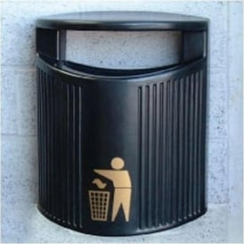 River Trent Hooded Top Wall Mounted Litter Bin Cap: 24lt