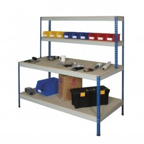 Rivet Workstations with Full Undershelf