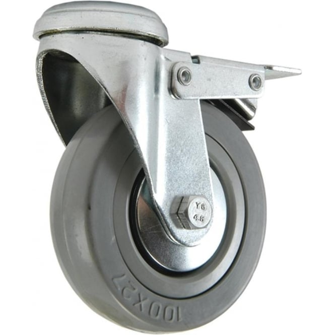 Rubber Tyred Bolt Hole Fitting Castors