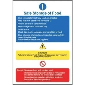 Safe Storage of Food Sign