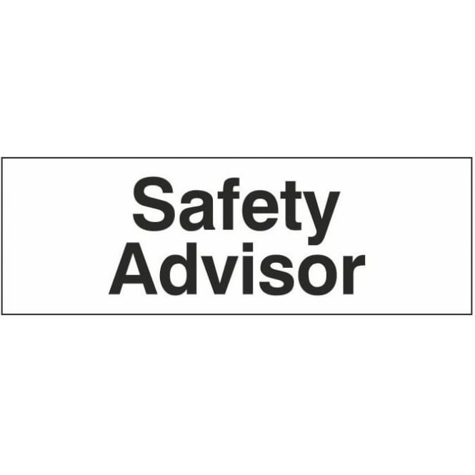 Safety Advisor Door Sign