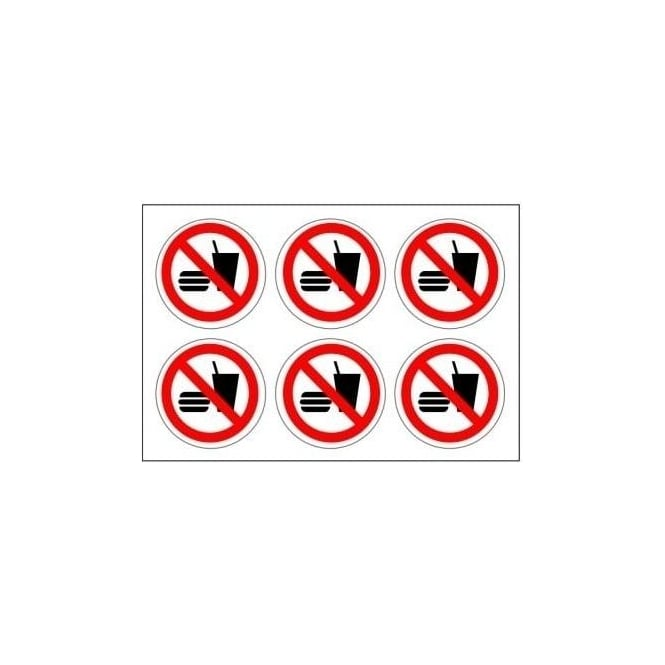 Safety Labels - No Food and Drink