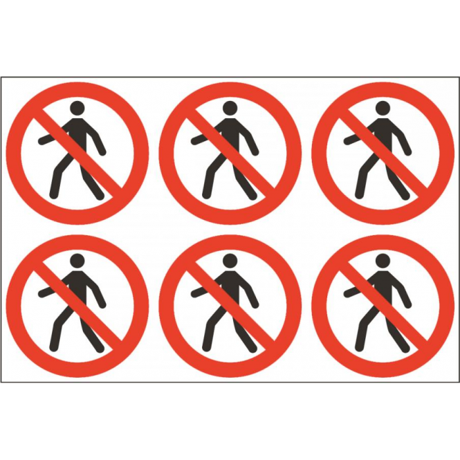 Safety Labels - No Pedestrians