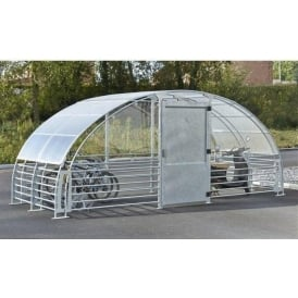 Secure Bike Shelter Compound with push button coded lock