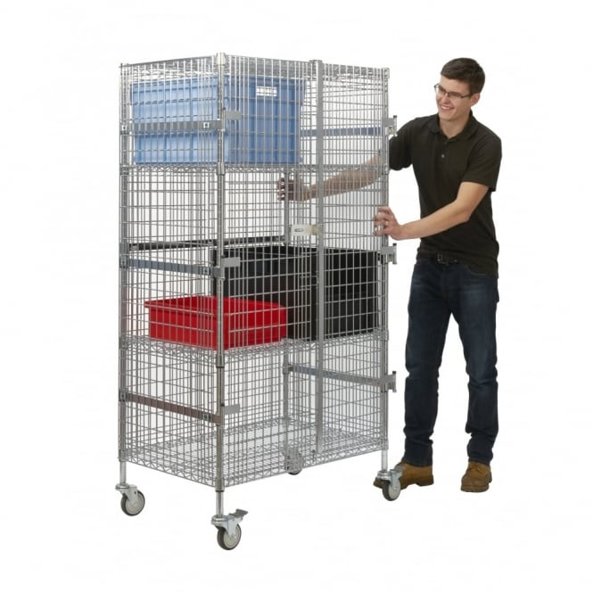 Security Shelf Truck - Chrome Wire Cap: 300kg