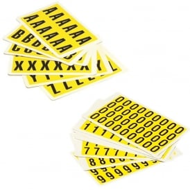 Self-Adhesive Numbers & Letters - Handy Packs
