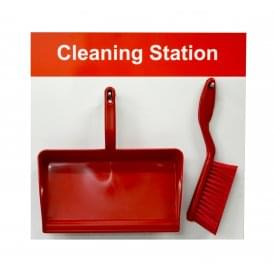 Shadow Board Cleaning Station Dustpan and Brush