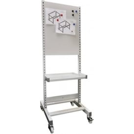 Shelf Trolley with magnetic back panel