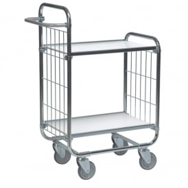 Shelf Trolleys with laminate shelves & mesh ends Cap: 250kg