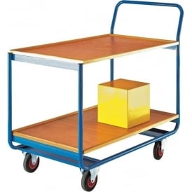 Shelf Trolleys with plywood shelves Cap: 150kg