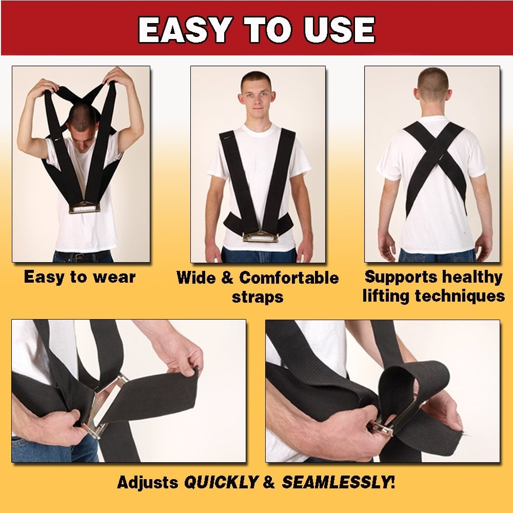 PARRS Shoulder Dolly Heavy Duty Lifting Strap
