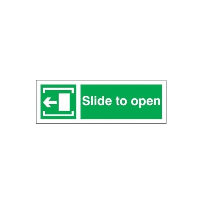 Slide to open - Arrow Left Signs
