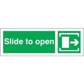 Slide to open - Arrow Right Signs