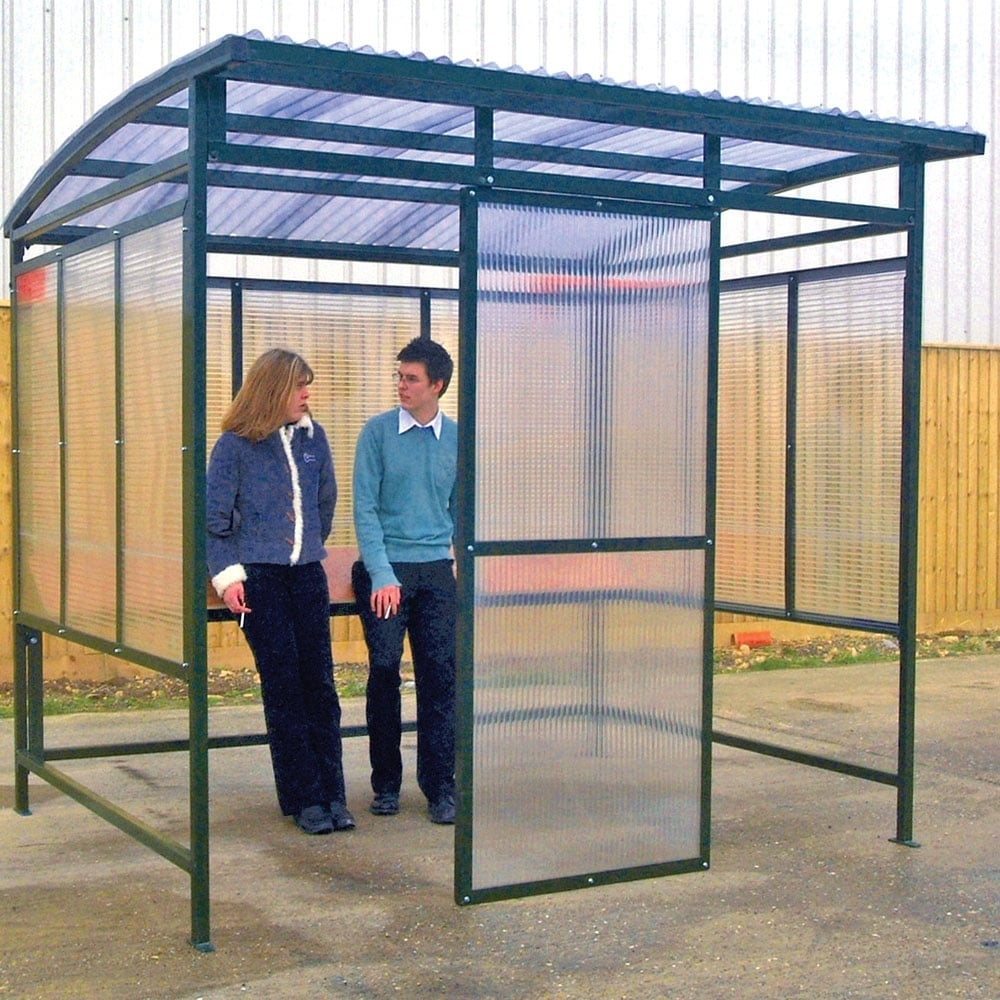 Smoking Shelter Curved Pvc Roof Parrs